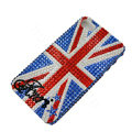 Bling Swarovski crystal cases Britain flag diamond covers for iPhone 5C - Blue