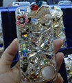 Bling Swarovski crystal cases Butterfly bear diamond cover for iPhone 5C - White