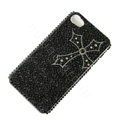 Bling Swarovski crystal cases Cross diamond covers for iPhone 5C - Black