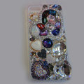 Bling Swarovski crystal cases Heart diamond cover for iPhone 5C - White