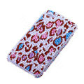 Bling Swarovski crystal cases Leopard diamond covers for iPhone 5C - Red