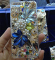 Bling Swarovski crystal cases Maple Leaf diamond cover for iPhone 5C - Blue