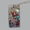 Bling Swarovski crystal cases Panda diamond cover for iPhone 5C - Pink