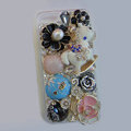Bling Swarovski crystal cases Pumpkin Trojan diamond cover for iPhone 5C - Blue