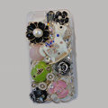 Bling Swarovski crystal cases Pumpkin Trojan diamond cover for iPhone 5C - Green
