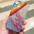 Bling Swarovski crystal cases Rainbow diamond covers for iPhone 5C - Blue
