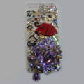 Bling Swarovski crystal cases Red Ballet girl diamond cover for iPhone 5C - Purple