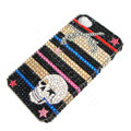 Bling Swarovski crystal cases Skull diamond covers for iPhone 5C - Black