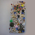 Bling Swarovski crystal cases Star diamond cover for iPhone 5C - Gold