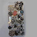 Bling Swarovski crystal cases Tiger diamond cover for iPhone 5C - Black