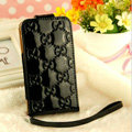 GUCCI leather Cases Luxury Holster Covers Skin for iPhone 5C - Black