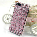 Heart diamond Crystal Cases Bling Hard Covers for iPhone 5C - Pink