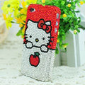 Hello kitty diamond Crystal Cases Luxury Bling Hard Covers for iPhone 5C - Red