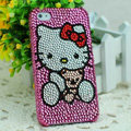 Hello kitty diamond Crystal Cases Luxury Bling Hard Covers for iPhone 5C - Rose