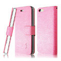 IMAK Slim leather Cases Luxury Holster Covers for iPhone 5C - Pink