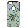 LOUIS VUITTON LV Luxury leather Cases Hard Back Covers Skin for iPhone 5C - White