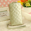 LV LOUIS VUITTON leather Cases Luxury Holster Covers Skin for iPhone 5C - White