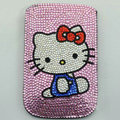Luxury Bling Holster Covers Hello kitty diamond Crystal Cases for iPhone 5C - Pink EB005