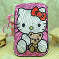 Luxury Bling Holster Covers Hello kitty diamond Crystal Cases for iPhone 5C - Rose
