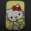 Luxury Bling Holster Covers Hello kitty diamond Crystal Cases for iPhone 5C - Yellow