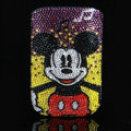Luxury Bling Holster Covers Minnie Mouse diamond Crystal Cases for iPhone 5C - Red