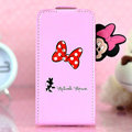 Minnie Mouse Flip leather Case Holster Cover Skin for iPhone 5C - Pink