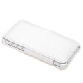 ROCK Dancing Series Side Flip Leather Cases Holster Covers for iPhone 5C - White and Gray