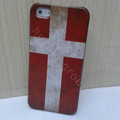 Retro Denmark flag Hard Back Cases Covers Skin for iPhone 5C