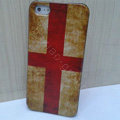 Retro England flag Hard Back Cases Covers Skin for iPhone 5C
