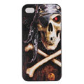 Skull Hard Back Cases Covers Skin for iPhone 5C - Black EB002