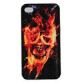 Skull Hard Back Cases Covers Skin for iPhone 5C - Black EB006