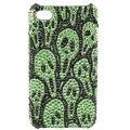 Skull diamond Crystal Cases Luxury Bling Hard Covers Skin for iPhone 5C - Green