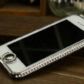 Swarovski Bling Metal Bumper Frame Case Cover for iPhone 5C - Silver