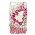 Swarovski Bling crystal Cases Love Luxury diamond covers for iPhone 5C - Pink