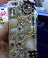Swarovski crystal cases Bling Dragon diamond cover for iPhone 5C - White