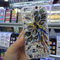 Swarovski crystal cases Bling Flower diamond cover for iPhone 5C - Gray