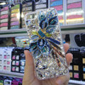 Swarovski crystal cases Bling Flower diamond covers for iPhone 5C - Blue