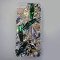 Swarovski crystal cases Bling Panda diamond cover for iPhone 5C - Green