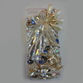 Swarovski crystal cases Bling Swan diamond cover for iPhone 5C - White