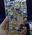 Swarovski crystal cases Flower diamond Bling cover skin for iPhone 5C - White