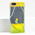 Ultrathin Matte Cases School boy Hard Back Covers for iPhone 5C - Yellow