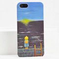 Ultrathin Matte Cases Sea girl Hard Back Covers for iPhone 5C - Black
