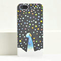 Ultrathin Matte Cases Snow girl Hard Back Covers for iPhone 5C - Black