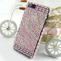 Zebra diamond Crystal Cases Bling Hard Covers for iPhone 5C - Pink