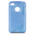 s-mak translucent double color cases covers for iPhone 5C - Blue