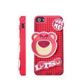3D Bear Cover Disney DIY Silicone Cases Skin for iPhone 5S - Pink