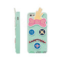 3D Forrest Gump Cover Disney DIY Silicone Cases Skin for iPhone 5S - Blue