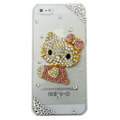 3D Hello kitty diamond Crystal Cases Bling Hard Covers for iPhone 5S - pink