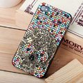 Bling Hard Covers Skull diamond Crystal Cases Skin for iPhone 5S - Color