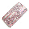 Bling Swarovski crystal cases Bowknot diamond covers for iPhone 5S - Pink